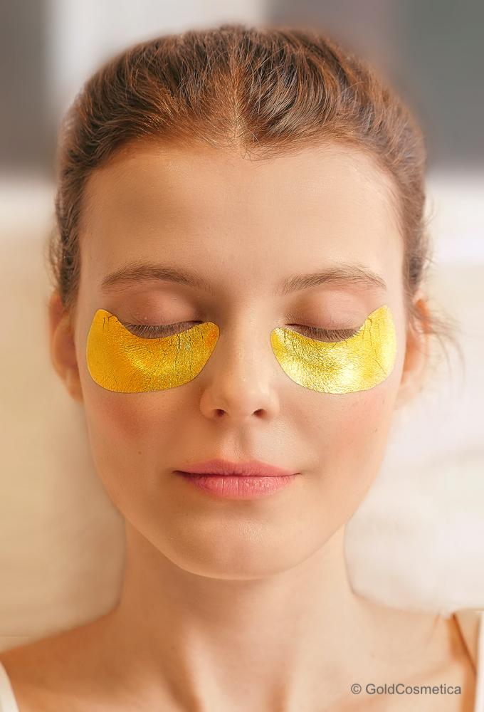 gold leaf eye pads