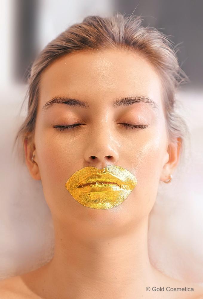 gold leaf lip mask